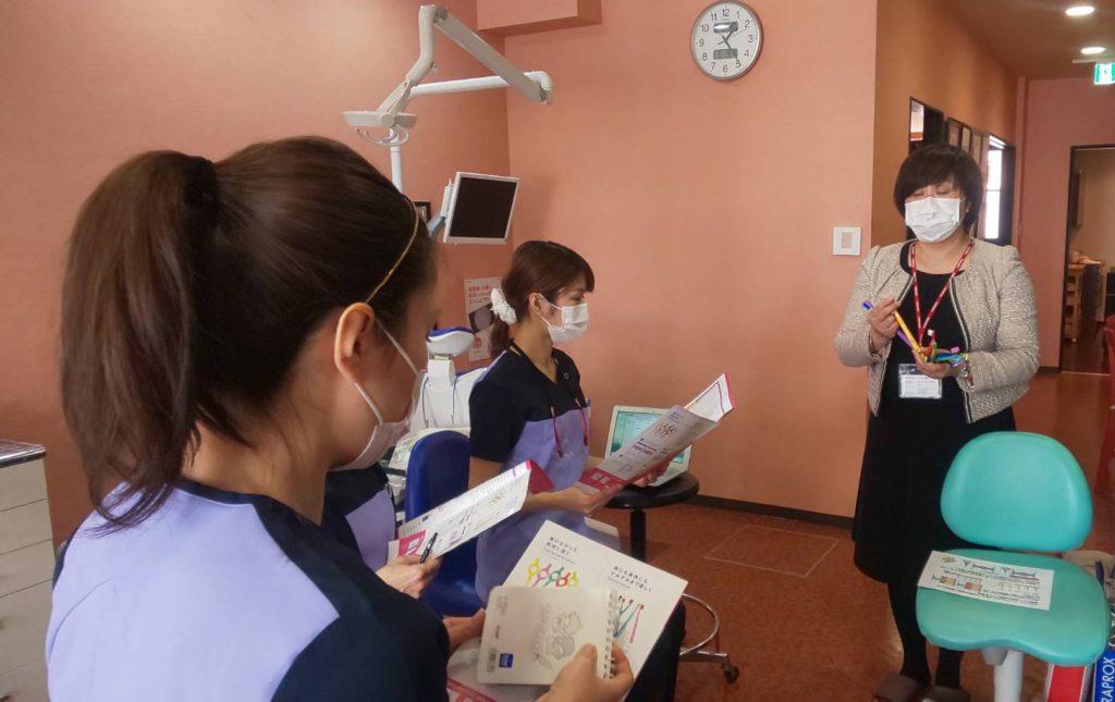歯間ブラシデモンストレーション