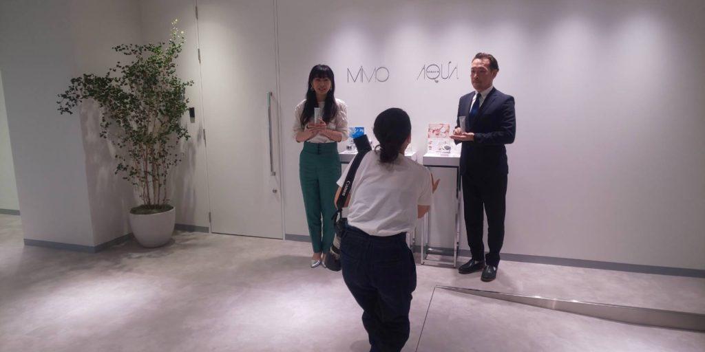 株式会社 MiMC 代表取締役 北島寿さんと 医療法人福涛会 理事長 平澤裕之 写真撮影。