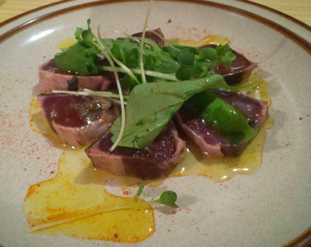 住之江区安立 「restaurant KOBO」さん https://restaurantkobo.owst.jp/ カツオのカルパッチョ